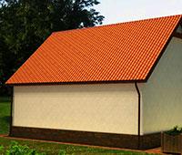 Фотография односкатной крыши